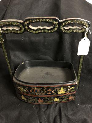 Wooden Asian basket for Sale in Denver, CO