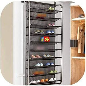 FAT BIG CAT 10-Layer Door Rear Shoe Rack Simple Wall-Mounted Shoe Cabinet Breathable-Type mesh for Sale in Ontario, CA
