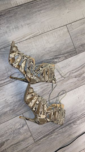 Summer snake skin highheels for Sale in Los Angeles, CA