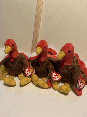 3 ty beanie babies all with tags for Sale in Sumner, WA
