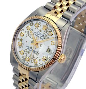 Rolex Unisex Datejust Silver Flower Dial Fluted Bezel 36mm for Sale in Los Angeles, CA