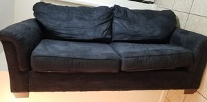 Black microfiber couch. Great condition. for Sale in Brandon, FL