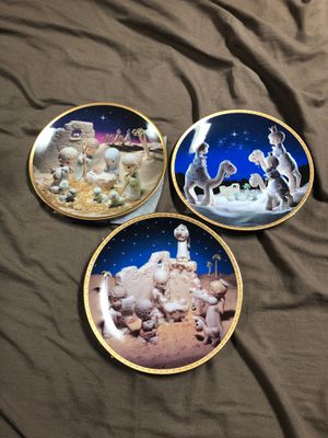 Precious Moments 3 plate annual nativity set for Sale in McKeesport, PA
