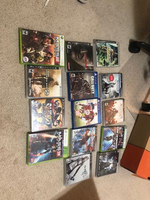 Variety of PS3/4 Xbox360 Games for Sale in San Marcos, CA