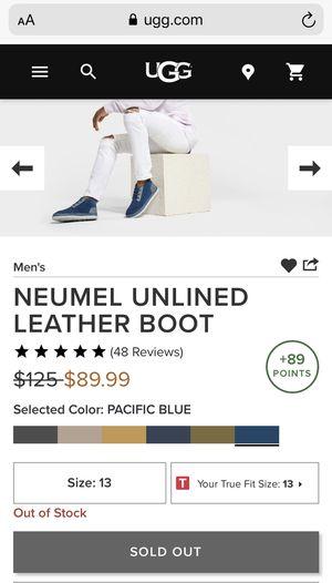 Men's NEUMEL UNLINED LEATHER BOOT SIZE 13 $75 for Sale in Stockbridge, GA