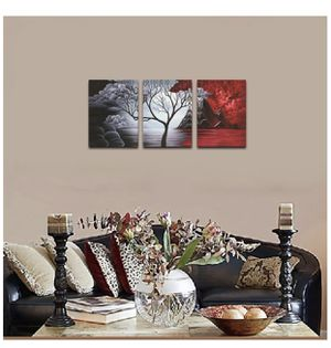BRAND NEW Cloud Tree Wall Art Painting Landscape, 3 Panels for Sale in Cockeysville, MD