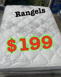 "BRAND NEW ""LUXURY EURO PILLOW TOP BAMBOO"" MATTRESSES 💯 COLCHONES NUEVOS PILLOW TOP 💯( LIMITED TIME ONLY) 5 year factory warranty ! 💥12 inches t for Sale in Beverly Hills,  CA"
