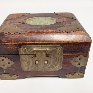 Chinese Brass / Wood Jewelry Box. for Sale in Camp Pendleton North, CA