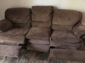 Reclining Microfiber Sofa for Sale in Atlanta,  GA
