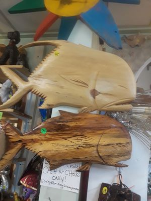 Your choice of either cool carved wooden fish wall art pieces sold individually weekend specials for Sale in Dunedin, FL