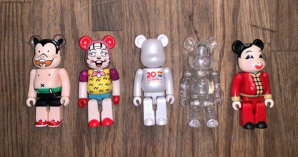 Vintage medicom 100% bearbricks collectible toys