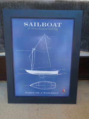 Parts of a Sailboat wall Display for Sale in Eastvale, CA