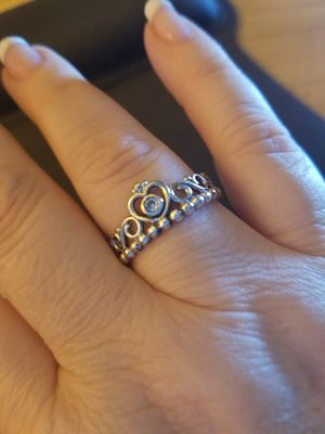 Sterling Silver Pandora STYLE Crown Ring for Sale in Knoxville, TN