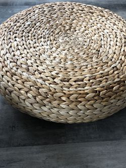 IKEA Stool | Japanese Style Handcrafted Futon Round Seat Cushion Banana Leaves Fibers for Sale in Seattle,  WA