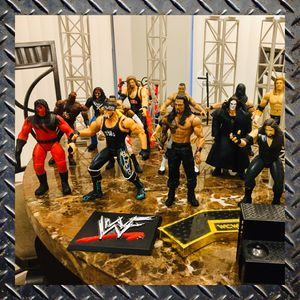 Huge Lot of Wrestling Action Figures and Cage Equipment for Sale in Spring Hill, FL