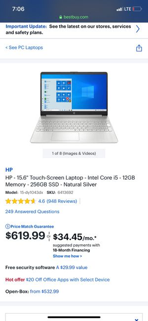 """Brand New HP 15.6"""" Touch Screen Laptop Computer for Sale in Richardson, TX"""