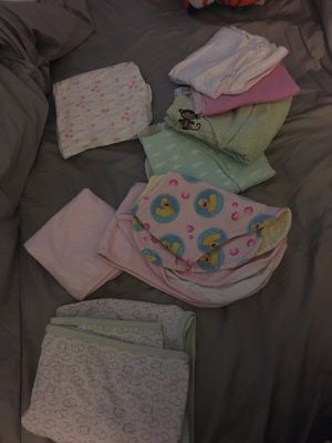 Burp cloth receiving blanket changing table pad for Sale in San Marcos, CA