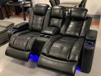 In Stock Party Time Led Power Reclining Sofa And Loveseat for Sale in College Park,  MD