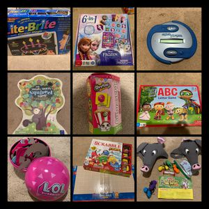 Kids games/ puzzles/ lite bright for Sale in Placentia, CA