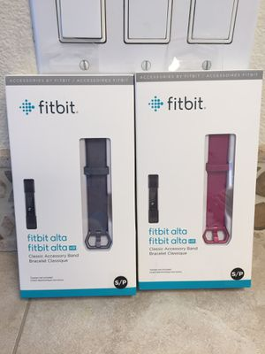 (2) Small Brand New & Sealed Fitbit Alta Bands Blue/Gray & Plum for Sale in Portland, OR