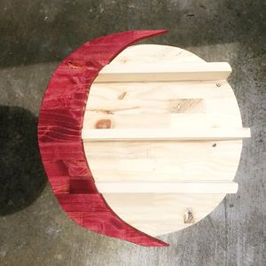Pine Wood Wood Moon Shelf for Sale in Spring, TX