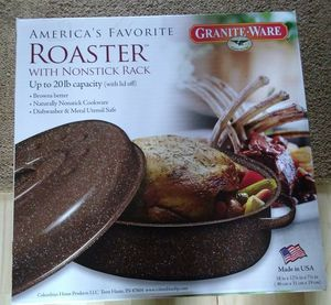 Granite Ware Roasting Pan with non-stick rack for Sale in Auburn, WA