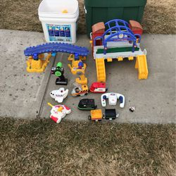 Geotrax Full Set for kids including train tracks and airplane set for Sale in Yakima,  WA