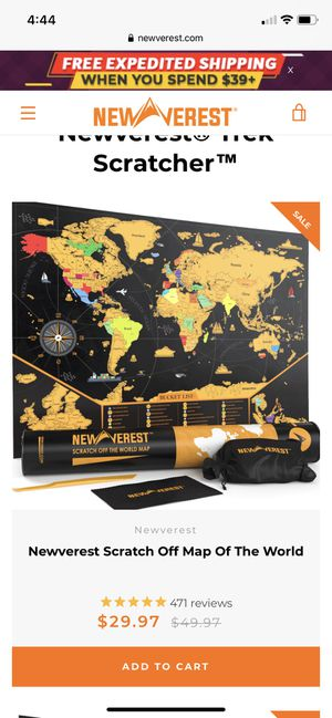 Scratch Off Map of the World for Sale in Phoenix, AZ