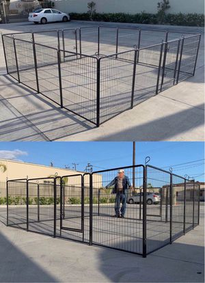 New in box 40 inch tall x 32 inches wide each panel x 16 panels exercise playpen fence safety gate dog cage crate kennel for pet for Sale in Whittier, CA
