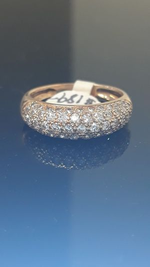 14k yellow gold cz pave ring 4.1 grams size 8 for Sale in Fort Pierce, FL
