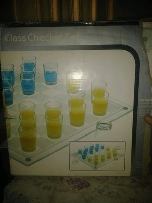 Shot glass checker set for Sale in McDonald, TN