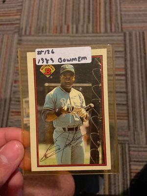 Bo Jackson baseball card 1989 for Sale in Fitchburg, MA