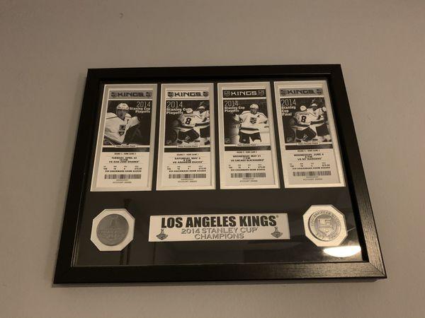 LA Kings Framed 2014 Stanley Cup Tickets - Like New