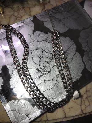2 chains in 1 dark silver metallic for Sale in Rockville, MD
