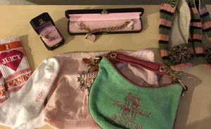 Juicy Couture charm bracelet, charm, slippers/shoes,purse, and socks for Sale in Houston, TX