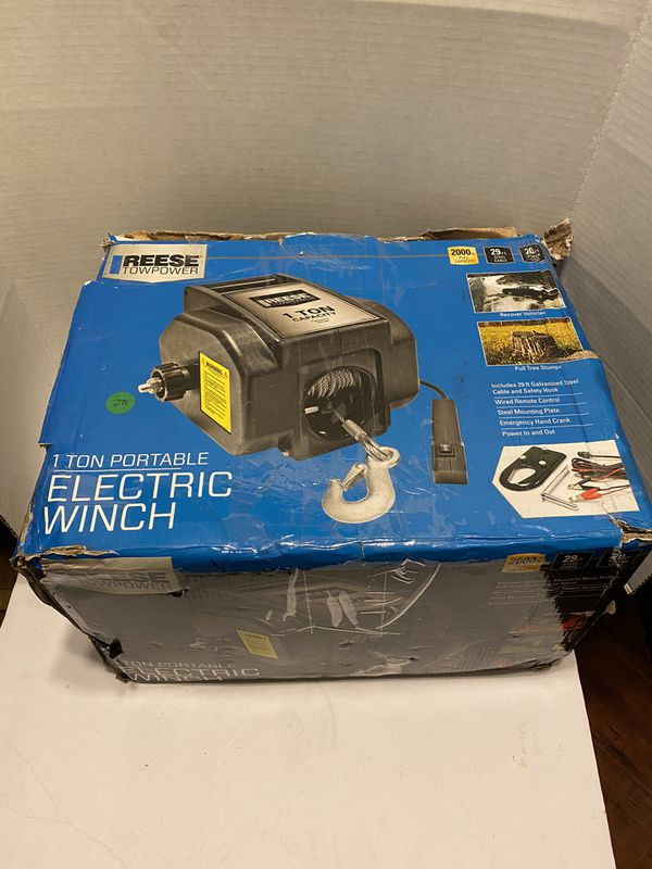 Reese Towpower 70336 1-Ton Portable Electric Winch