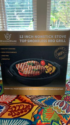 BRAND NEW WAXONWARE 12 inch nonstick stove top smokeless the BBQ grill for Sale in Oviedo, FL
