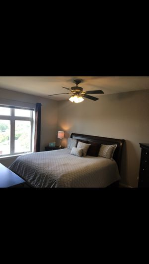 Bed Frame/Headboard/Mattress-King for Sale in Palatine, IL