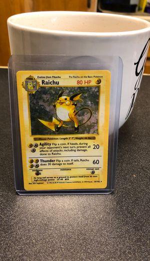 Shadowless Raichu 14/102 for Sale in Pasco, WA