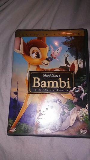 Bambi dvd 2 disc set used for Sale in San Bernardino, CA