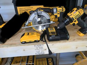 Circular saw drill driver impact flashlight 1 battery and charger not negotiable all for Sale in Plant City, FL