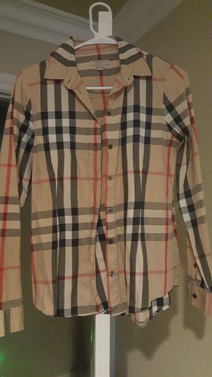 Burberry women button shirt size xs for Sale in Fontana, CA