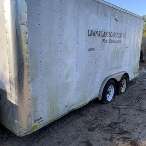 16 x 7 1/2 landscaping trailer or storage for Sale in West Palm Beach, FL