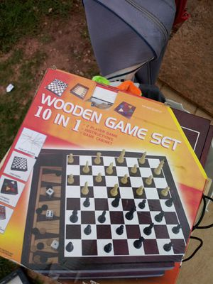 Wooden game set 10 in 1 for Sale in Abilene, TX