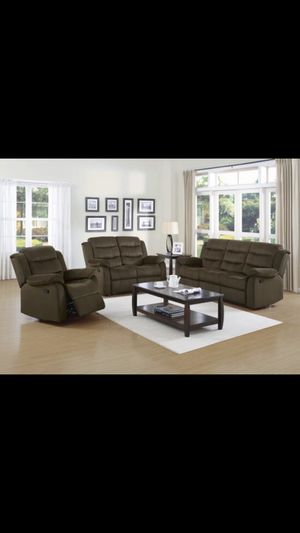 Beautiful new 2 piece recliner sofa set (1sofa & 1loveseat) only 999$!!! for Sale in San Leandro, CA