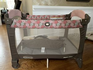 Babay Pack'n play, crib mattress, baby bath, changing pad, breastfeeding pillow for Sale in Oakton, VA