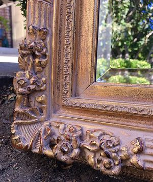 Gorgeous STATEMENT French Country Extra Large Decorative Standing/Wall Mirror with Belleved Glass and Beautiful Floral Design!! 70X45 for Sale in Mountain View, CA