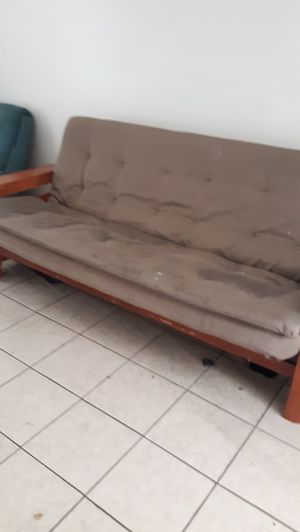 Futon sofa with drawers on bottom for Sale in Winter Haven, FL