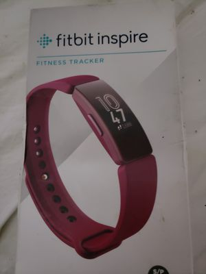 Fitbit Inspire Sangria Band Tracker Small And Large FB412BYBY New sealed for Sale in Brockton, MA