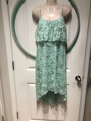 Xl turquoise lace high low dress for Sale in Yorktown, VA